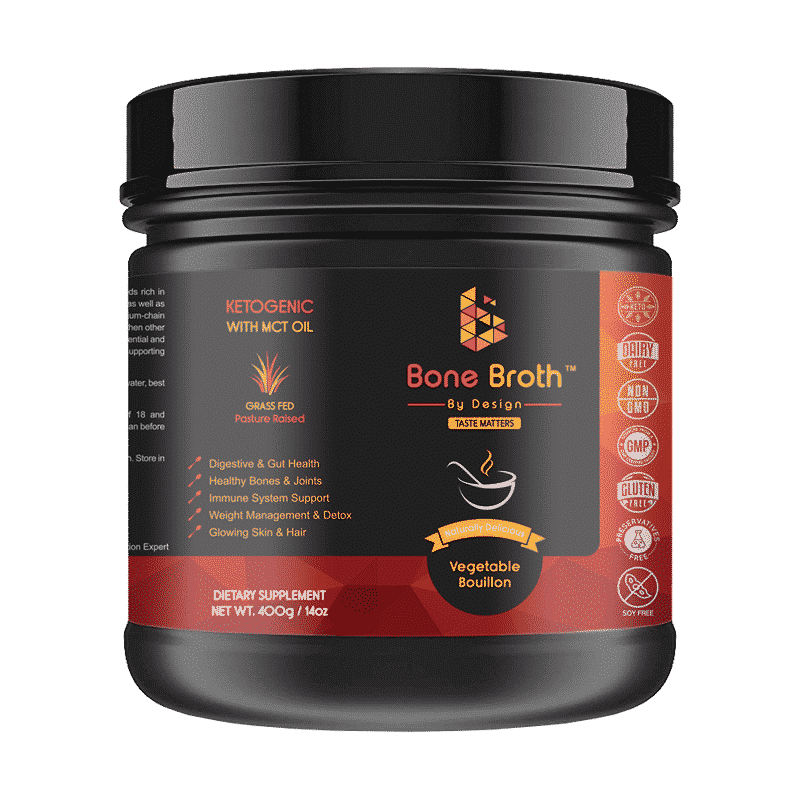 Jar Bone Broth Vegetable Bouillon