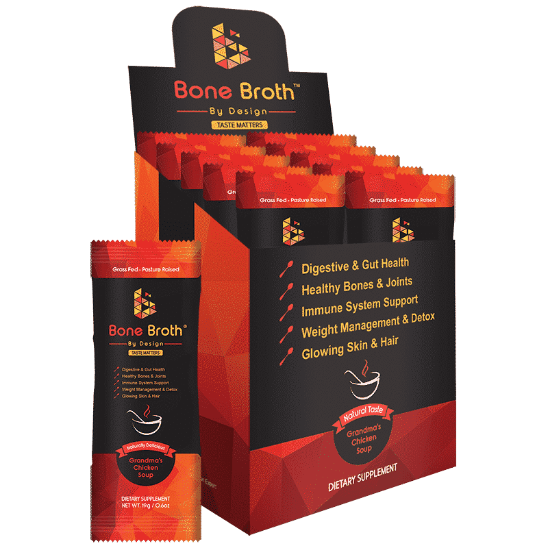 Beef Bone Broth - Chicken Soup Natural Flavor - Sachets Box