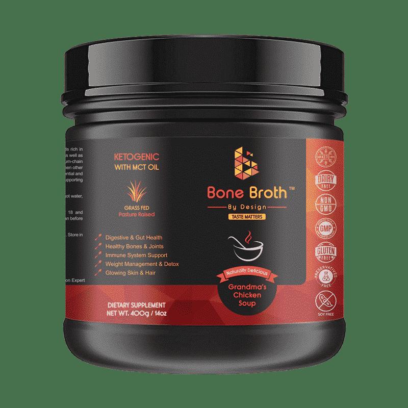 Bone Broth Chicken Soup Flavor Jar