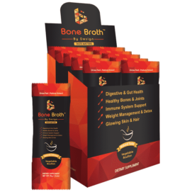 Beef Bone Broth - Vegetable Bouillon Natural Flavor - Sachets Box