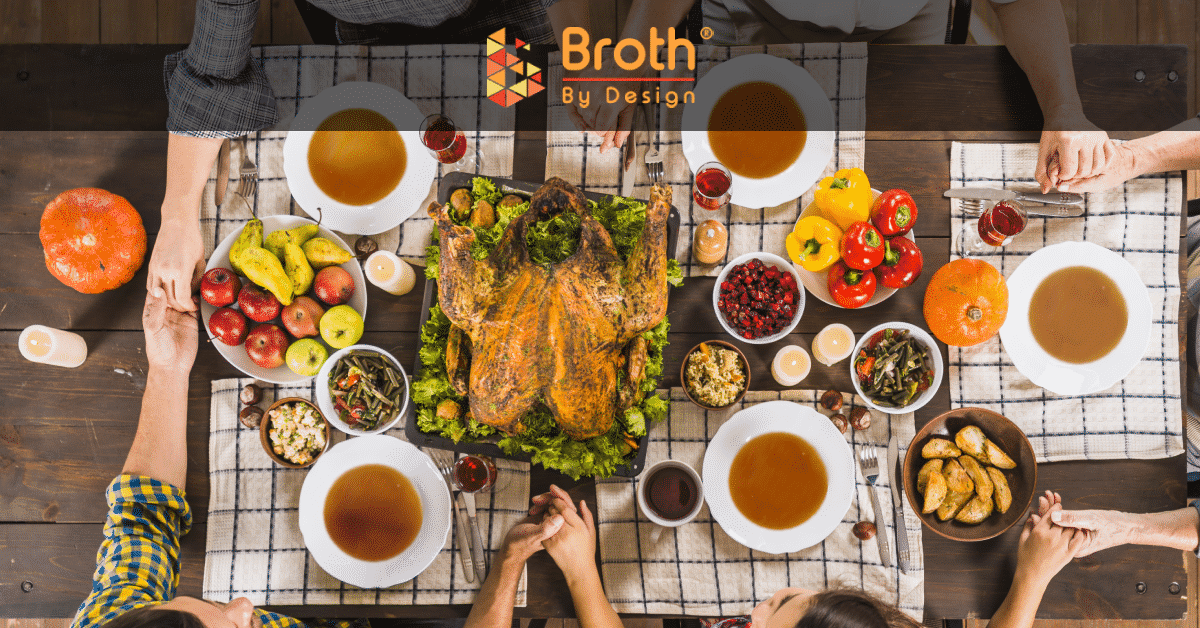 A thanksgiving table full of delicious meals