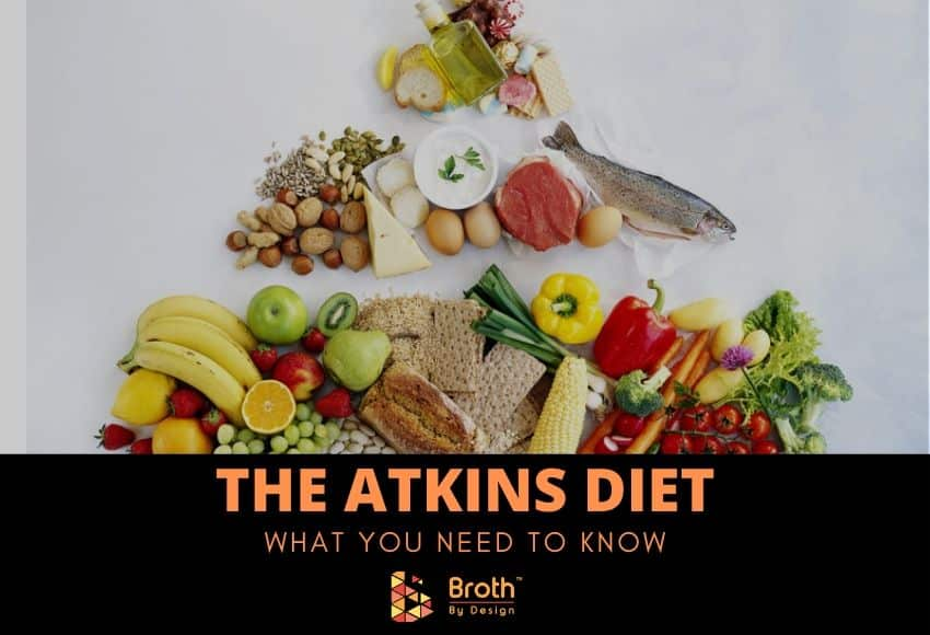 Various food that's part of the Atkins Diet