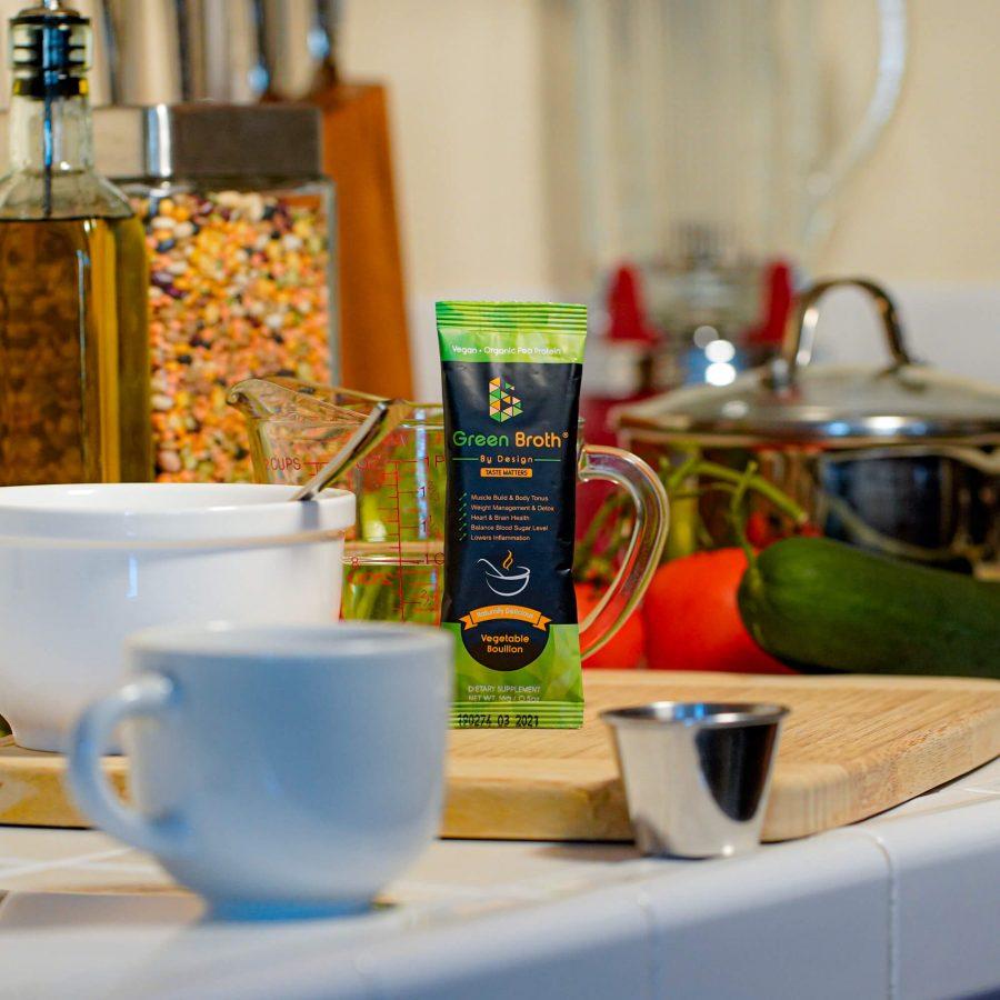 Green broth By Design Sachet in Kitchen
