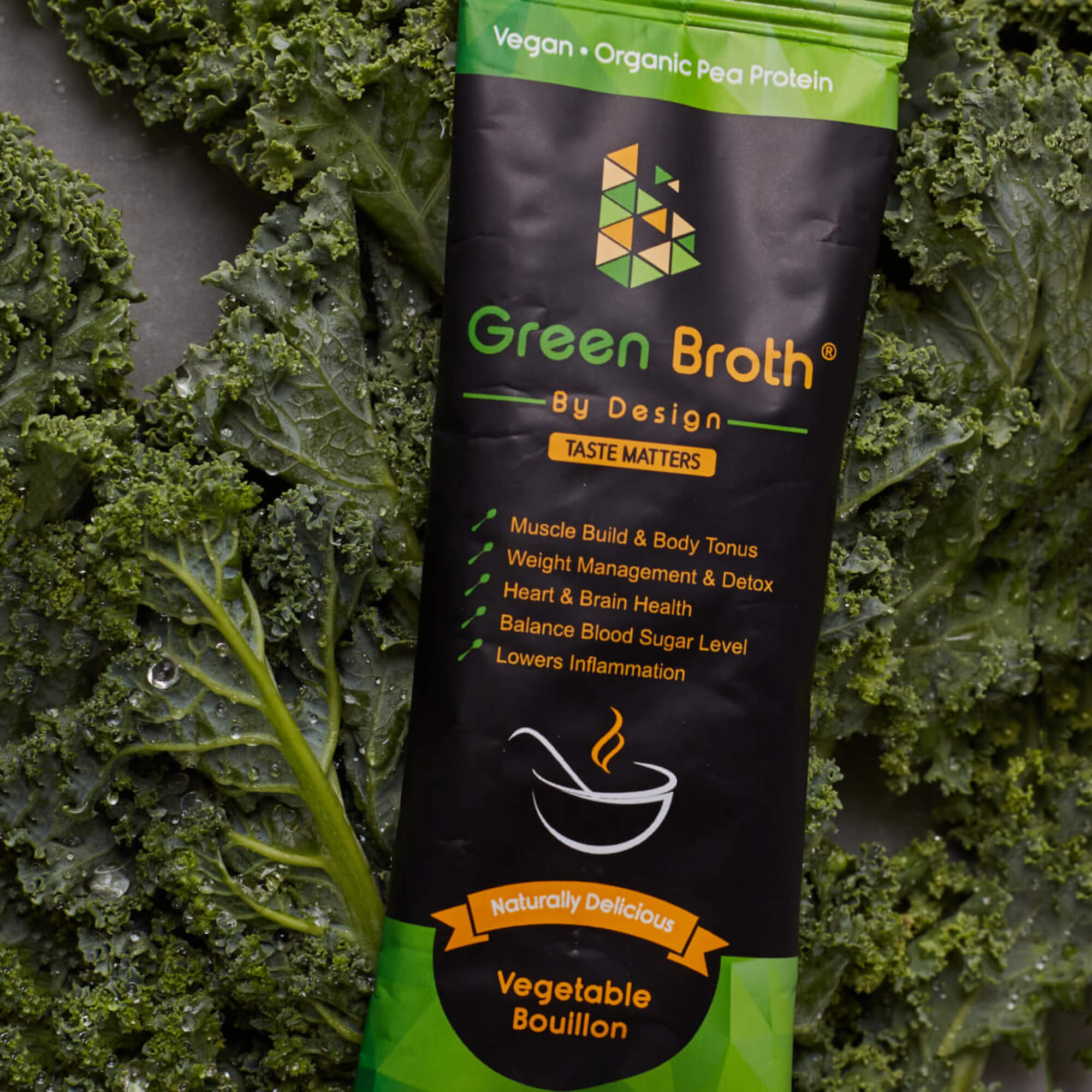 Green Broth Sachet Over Kale