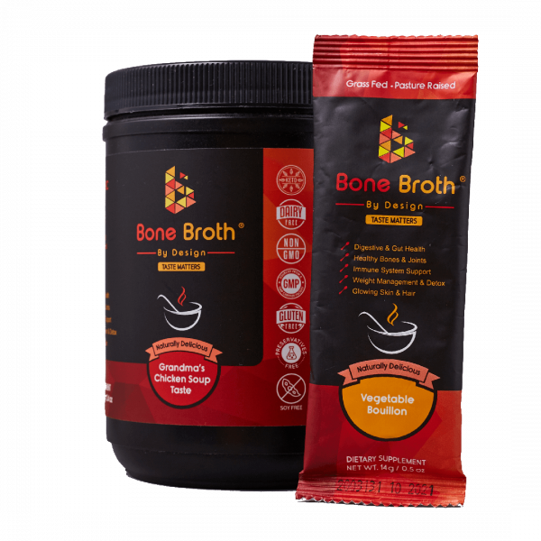 Bone Broth By Design jar and sachet