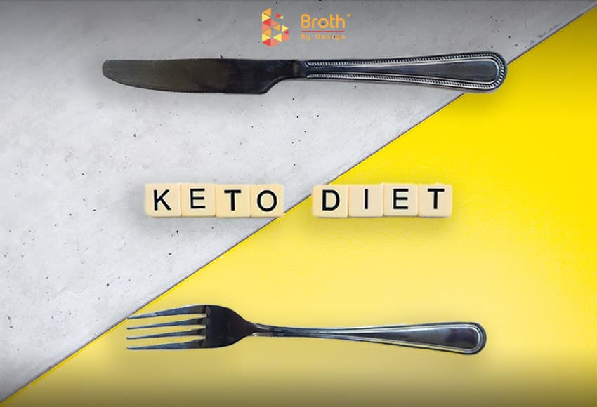 A fork and knife with Keto Diet written in the middle