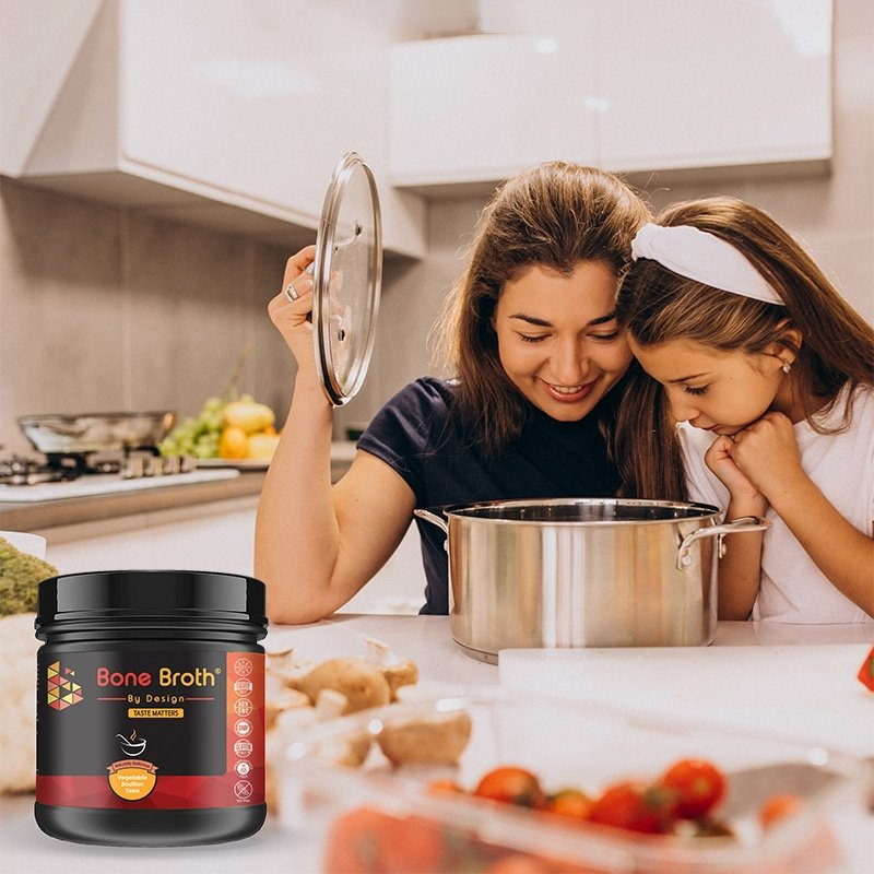 bone broth by design and mother daughter cooking