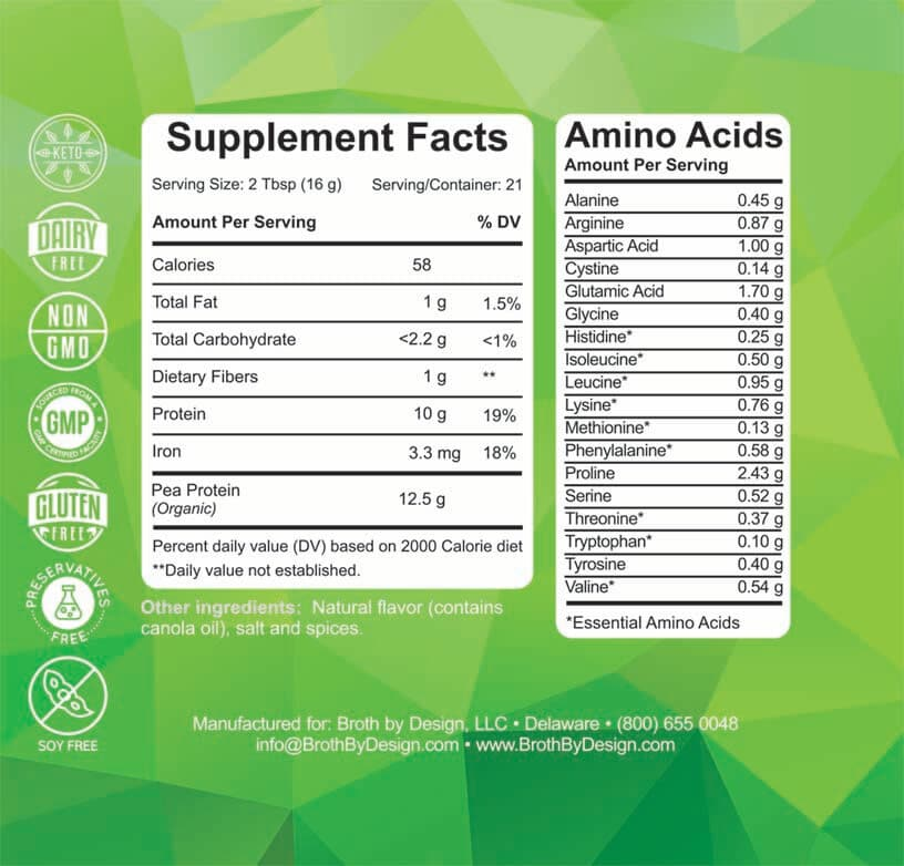 green broth by design supplement facts