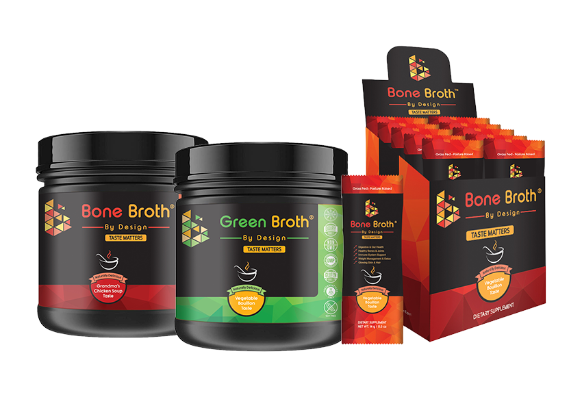 Get your delicious Bone Broth by Design!