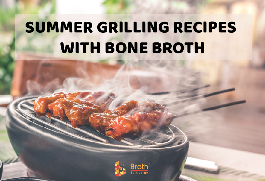 A grill in the yard, preparing summer grilling recipes