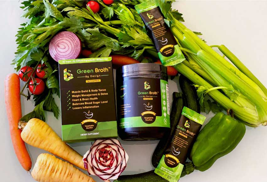 Cooking with Broth by Design's Green Broth: The healthful side to any meal