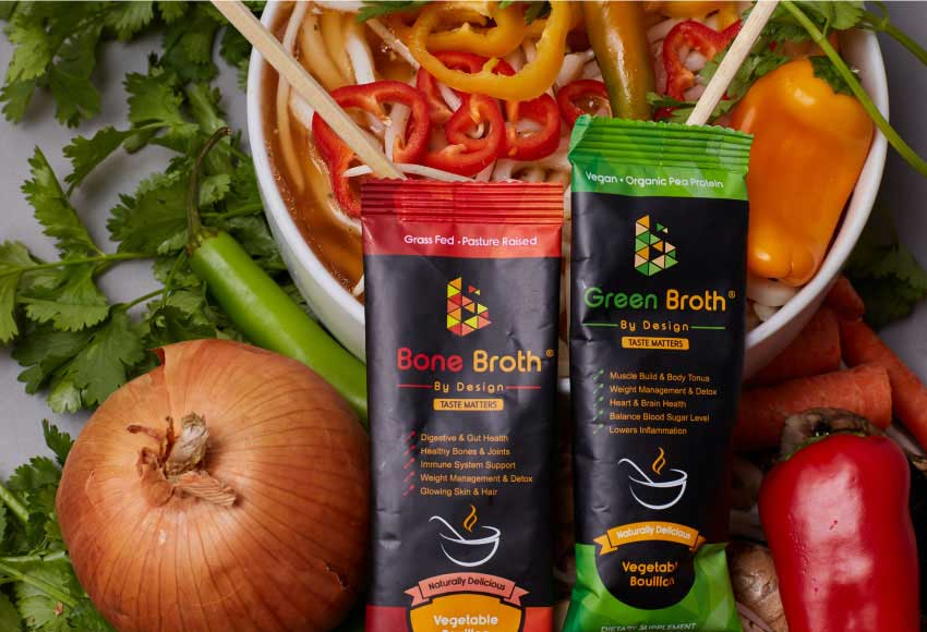 Cooking with Bone Broth by Design and Green Broth by Design